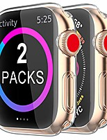 cheap -[2 pack]  case for apple watch screen protector 40mm 44mm 38mm 42mm,iwatch series 5 4 3 soft tpu hd clear ultra-thin overall protective cover case