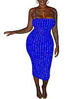 cheap -women's sexy suspender sequin strip mini tight evening dress black s