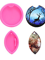 cheap -DIY Baking Mirror Crystal Silicone Mold Cup Rugby Keychain Mold Car Pendant Mold