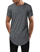 cheap -mens hipster hip hop streetwear short sleeve t shirts curve hem longline t-shirt (medium, dark blue4)