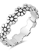 cheap -eternity plumeria flower beautiful ring new .925 sterling silver band size 3
