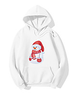 cheap -Inspired by Christmas Snowman Cosplay Costume Hoodie Polyester / Cotton Blend Graphic Prints Printing Hoodie For Men's / Women's