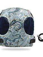 cheap -Dog Cat Harness Vest Adjustable Flexible Breathable Durable Outdoor Walking Color Block Cotton Corgi Pug Bichon Frise Schnauzer Poodle Chihuahua Black Dark Blue Light Blue 1pc