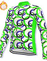 cheap -21Grams Men's Long Sleeve Cycling Jacket Winter Fleece Spandex Green Bike Jacket Mountain Bike MTB Road Bike Cycling Fleece Lining Warm Sports Clothing Apparel / Stretchy / Athleisure