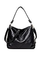 cheap -women leather handbag satchel large shoulder tote bag ladies hobo handbag purse (black)