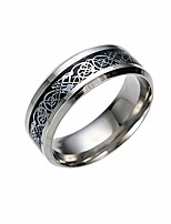 cheap -women's gemstone ring titanium steel dragon with silver golden dragon stainless steel ring jewelry gift ideas under 5 dollars (black, 7)