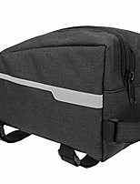 cheap -bike frame bag, waterproof front tube riding punch triangle bicycle pack for cycling storage(black)