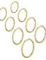 cheap -thin stacking band rings for women girls 1mm (gold-8pcs-(size3-10)-wide:1mm)