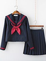 cheap -Inspired by JK Schoolgirls Skirt Cosplay Costume Polyester / Cotton Blend Solid Color Cravat For Women's / Top / Top