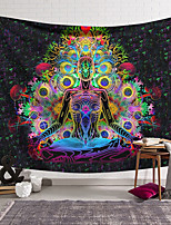 cheap -Mandala Bohemian Wall Tapestry Trippy Art Decor Blanket Curtain Hanging Home Bedroom Living Room Decoration Polyester Psychedelic Indian Boho Hippie Buddha