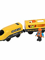 cheap -electric train toy battery operated action locomotive train kids train toy with voice broadcast function compatible with wooden track