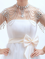 cheap -Sleeveless 1920s Alloy / Sequined Wedding Shawl & Wrap With Rhinestone / Sparkling Glitter / Paillette