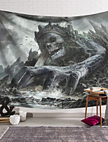 cheap -Wall Tapestry Art Decor Blanket Curtain Hanging Home Bedroom Living Room Decoration Polyester Fiber Skull Giant Mountain Range Great Sword Lanting Design Style
