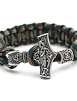 cheap -norse viking thor mjolnir paracord amuletceltic rune knot amulet scandinavian bracelet green paracord
