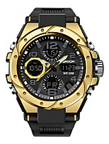 cheap -SANDA Men's Digital Watch Digital Sporty Classic Water Resistant / Waterproof Analog - Digital Rose Gold Black / Silver Black+Gloden / One Year / Rubber / Japanese