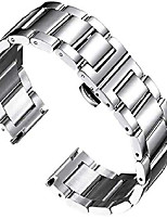 cheap -watch strap compatible with samsung galaxy watch/samsung gear sport 20mm solid stainless steel metal band strap replacement for galaxy watch 41mm/ 42mm samsung galaxy watch active/active2 smartwatch