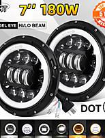cheap -2 Pcs 7 Inch Led Headlight Offroad 4x4 Hi/Low 12V 24V LED DRL Led Headlamp for Motocycle Lada Niva UAZ 6500K