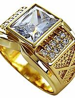 cheap --18k gold filled men's wedding engagement ring band r206 (9)