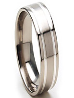 cheap -8mm men's titanium rings wedding band, titanium bands for men, sz 4-17