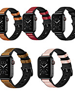cheap -Watch Band for Apple Watch Series 6 / SE / 5/4 44mm / Apple Watch Series 6 / SE / 5/4 40mm / Apple Watch Series 3/2/1 38mm Apple Leather Loop Silicone / Genuine Leather Wrist Strap