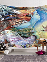 cheap -Wall Tapestry Art Deco Blanket Curtain Hanging Home Bedroom Living Room Dormitory Decoration Polyester Fiber Painted Feather Goddess Butterfly
