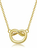 cheap -i couldn't tie the knot without you gold plated charm knot pendant necklace for women bridesmaids gifts 1