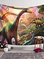 cheap -Wall Tapestry Art Deco Blanket Curtain Hanging Home Bedroom Living Room Dormitory Decoration Polyester Fiber Animal Dinosaur Age Jungle