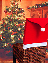 cheap -Christmas chair covers Santa Claus Hat Christmas Dinner Chair Back Covers Table Party Decor New Year Party Supplies