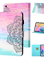 cheap -Case For Samsung Galaxy Samsung Tab A 10.1(2019)T510 / Samsung Tab A 10.1(2019)T515 / Galaxy Tab A 10.5 T595 T590 Shockproof Full Body Cases Flower PU Leather / TPU