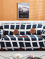 cheap -Grid Print 1-Piece Sofa Cover Couch Cover Furniture Protector Soft Stretch Slipcover Spandex Jacquard Fabric Super Fit for 1~4 Cushion Couch and L Shape Sofa,Easy to Install(1 Free Cushion Cover)