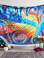 cheap -Oil Painting Style Wall Tapestry Art Decor Blanket Curtain Hanging Home Bedroom Living Room Decoration Polyester Hippie Abstract Pattern Psychedelic Mansion