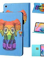 cheap -Case For Samsung Galaxy Samsung Tab A 10.1(2019)T510 / Samsung Tab A 10.1(2019)T515 / Galaxy Tab A 10.5 T595 T590 Shockproof Full Body Cases Animal / Cartoon PU Leather / TPU