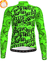 cheap -21Grams Men's Long Sleeve Cycling Jacket Winter Fleece Polyester Green Bike Jacket Top Mountain Bike MTB Road Bike Cycling Thermal Warm Fleece Lining Breathable Sports Clothing Apparel / Stretchy