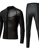 cheap -Men's Full Wetsuit 2mm CR Neoprene Diving Suit Long Sleeve Front Zip Solid Colored Autumn / Fall / High Elasticity