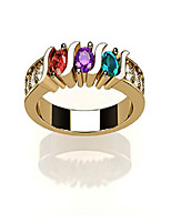 cheap -nana s-bar w/sides mother's ring 1 to 6 simulated birthstones - 10k yellow gold - size 8