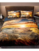 cheap -Sunrise Landscape Print 3-Piece Duvet Cover Set Hotel Bedding Sets Comforter Cover with Soft Lightweight Microfiber For Holiday Decoration(Include 1 Duvet Cover and 1or 2 Pillowcases)