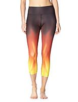cheap -Women's Basic Yoga Comfort Daily Yoga Leggings Pants Gradient Calf-Length Patchwork Print Gradient yellow