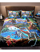 cheap -Dinosaur Print 3-Piece Duvet Cover Set Hotel Bedding Sets Comforter Cover with Soft Lightweight Microfiber For Holiday Decoration(Include 1 Duvet Cover and 1or 2 Pillowcases)