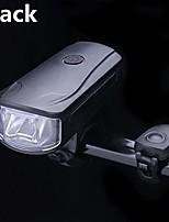 cheap -bicycle bell usb charging flashlight bike horn light headlight cycling multifunction ultra bright electric 130db horn bell (black)