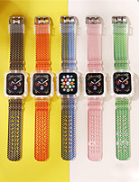 cheap -Watch Band for Apple Watch Series 6 / SE / 5/4 44mm / Apple Watch Series 6 / SE / 5/4 40mm / Apple Watch Series 3/2/1 38mm Apple Sport Band TPE Wrist Strap