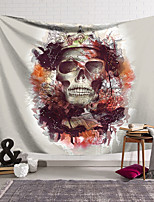 cheap -Wall Tapestry Art Decor Blanket Curtain Hanging Home Bedroom Living Room Decoration Polyester Fiber Novelty Still Life Skull Skull Colored Flowers