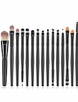 cheap -15 pcs makeup brush set, powder foundation eyeshadow eyeliner lip cosmetic brushes make-up toiletry kit ideal for pro & daily use (15pcs black)