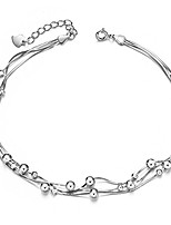 cheap -925 sterling silver triple layered chain anklets/bracelet with tiny beads for casual
