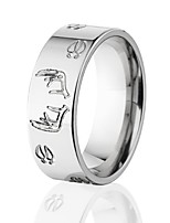 cheap -deer track ring w/ deer antlers titanium ring, outdoor jewelry, hunting rings wedding bands usa made