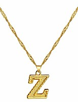cheap -z initial necklace for women - 18k gold plated a-z letter pendants necklaces handmade engraved alphabet name monogram necklace jewelry gift