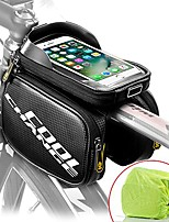 "cheap -bike frame bag touch screen | tough case | large safty reflective| mobile cell phone bag top tube bag for 6.2""phone"