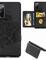 cheap -Case For Samsung Galaxy Galaxy A51 / Galaxy A60 / Samsung Galaxy A10s Card Holder / Shockproof / Embossed Back Cover Solid Colored PU Leather / TPU