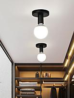 cheap -10 cm Mini Ceiling Lights Modern Basic Porch Light Corridor Aisle Black Chrome Metal Painted Finishes 110-120V 220-240V