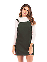 cheap -Women's Strap Dress Short Mini Dress - Sleeveless Solid Color Backless Lace up Patchwork Fall Casual Loose 2020 Black Blushing Pink Wine Green S M L XL