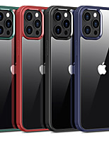 cheap -Case For Apple iPhone 12 / iPhone 11 / iPhone 12 Pro Max Shockproof Back Cover Transparent / Solid Colored TPU